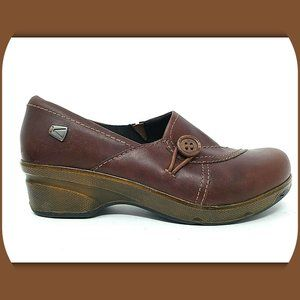 KEEN Mora Leather Slip On Clogs